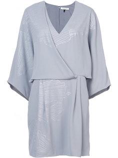 платье с мелким узором Halston Heritage