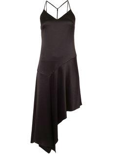 платье с асимметричным подолом Halston Heritage