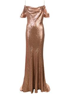длинное расклешенное платье  Rachel Zoe