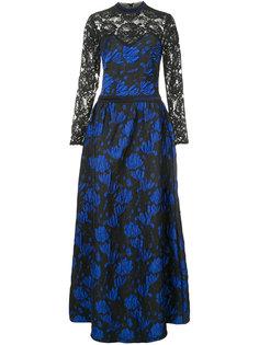 lace embroidered maxi dress Tadashi Shoji