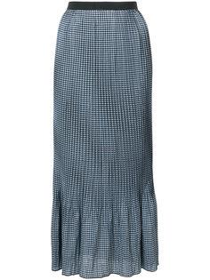 клетчатая юбка макси Adam Selman