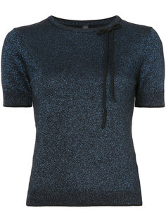 metallic threading knitted top Adam Selman