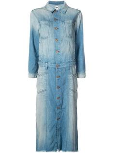джинсовое платье-рубашка с потертой отделкой NSF