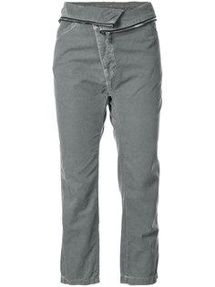 укороченные брюки с отделкой молнией  NSF