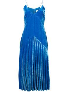 бархатное плиссированное платье Dion Lee