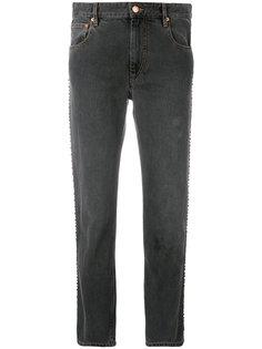 джинсы-герлфренды с заклепками Isabel Marant