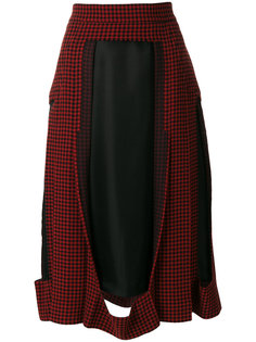юбка с отрезной деталью и рисунком Maison Margiela