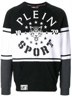 толстовка  с заплткой с логотипом Plein Sport