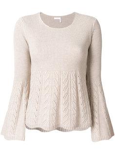расклешенный свитер  See By Chloé