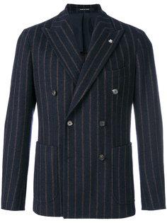 двубортный полосатый пиджак Tagliatore
