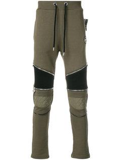 байкерские спортивные брюки  Philipp Plein