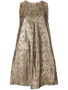 платье с цветочным принтом с металлическим отблеском Twin-Set