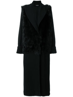 пальто со вставкой  Ann Demeulemeester
