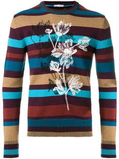 свитер с полосатым узором Paolo Pecora