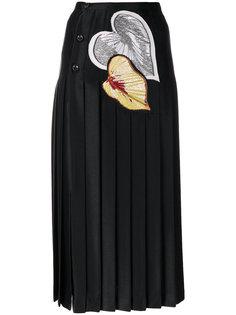 плиссированная юбка с аппликацией  Marco De Vincenzo
