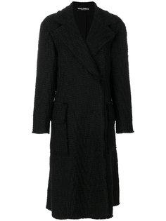 фактурное пальто макси  Dolce & Gabbana