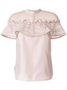 блузка с кружевными вставками Self-Portrait