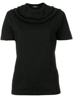 футболка с оборкой  Dsquared2