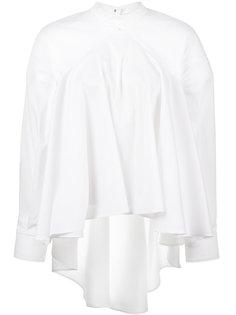 А-образная блузка с плиссировкой и открытой спиной  Esteban Cortazar