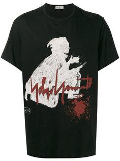 футболка с принтом самурая Yohji Yamamoto