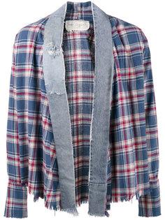 клетчатая рубашка-кимоно Greg Lauren