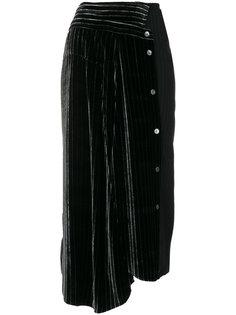 асимметричная юбка миди в полоску  Aalto