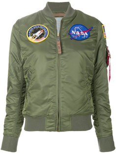 куртка MA-1 Nasa с заплатками Alpha Industries