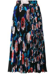 плиссированная юбка с цветочным принтом MSGM