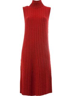 платье без рукавов в рубчик  Maison Margiela