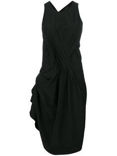 gathered asymmetric dress Isabel Benenato