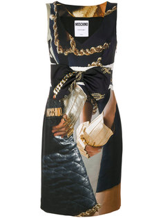 платье trompe loeil fantasy Moschino