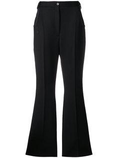 брюки клеш с кожаной отделкой  Nina Ricci