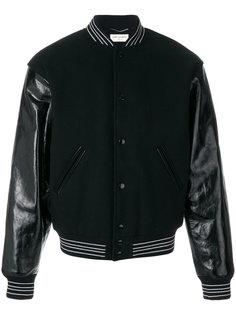 куртка-бомбер Teddy Saint Laurent