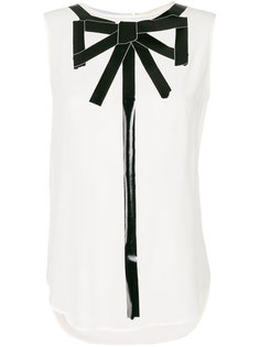 блузка без рукавов trompe loeil Moschino