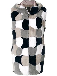 лоскутная куртка с капюшоном Liska