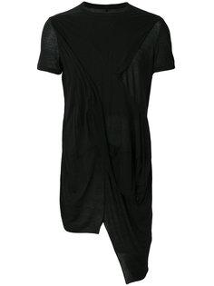 асимметричная футболка Rick Owens DRKSHDW