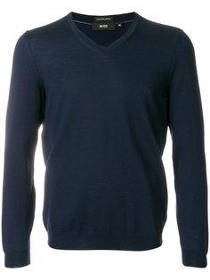 свитер с V-образным вырезом Boss Hugo Boss