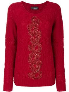 вязаный свитер с вышивкой Jo No Fui