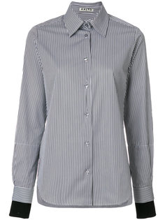 рубашка в полоску с контрастными манжетами  Aalto