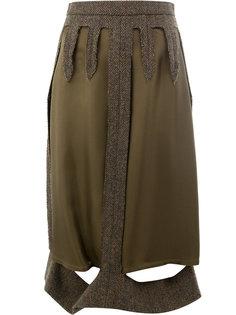 многослойная юбка с вырезами  Maison Margiela