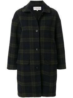 пальто в шотландскую клетку YMC