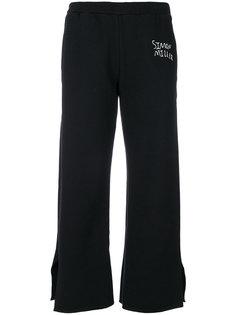 укороченные брюки с вышитым логотипом Simon Miller