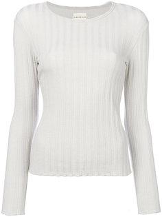 приталенный свитер с ребристой фактурой Simon Miller