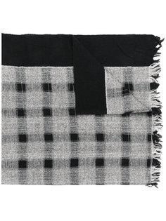 шарф в клетку с бахромой Ys Y`s