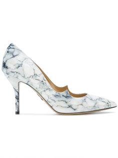 туфли-лодочки с мраморным принтом Paul Andrew