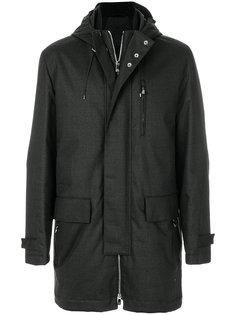 пальто с капюшоном на молнии Corneliani