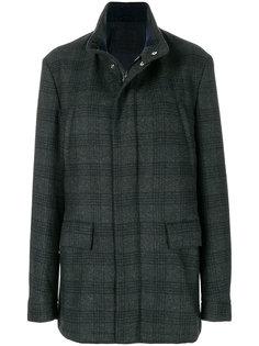 однобортное пальто в клетку Corneliani
