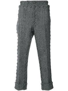брюки с пуговичной отделкой Thom Browne