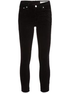 бархатные брюки скинни Rag & Bone /Jean