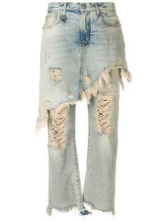 джинсы с юбкой  R13